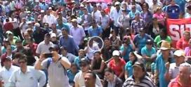 La CGT en protesta por masivos despidos de empleados públicos