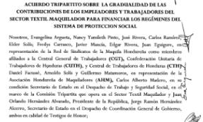 Acuerdo tripartito sobre Ley Marco del Sistema de Seguridad Social