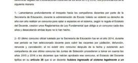 Pronunciamiento de la seccional 12 del PRICPHMA acerca de la arbitraria decisión de la SEDUC de no reconocer las exoneraciones 2015 y 2016