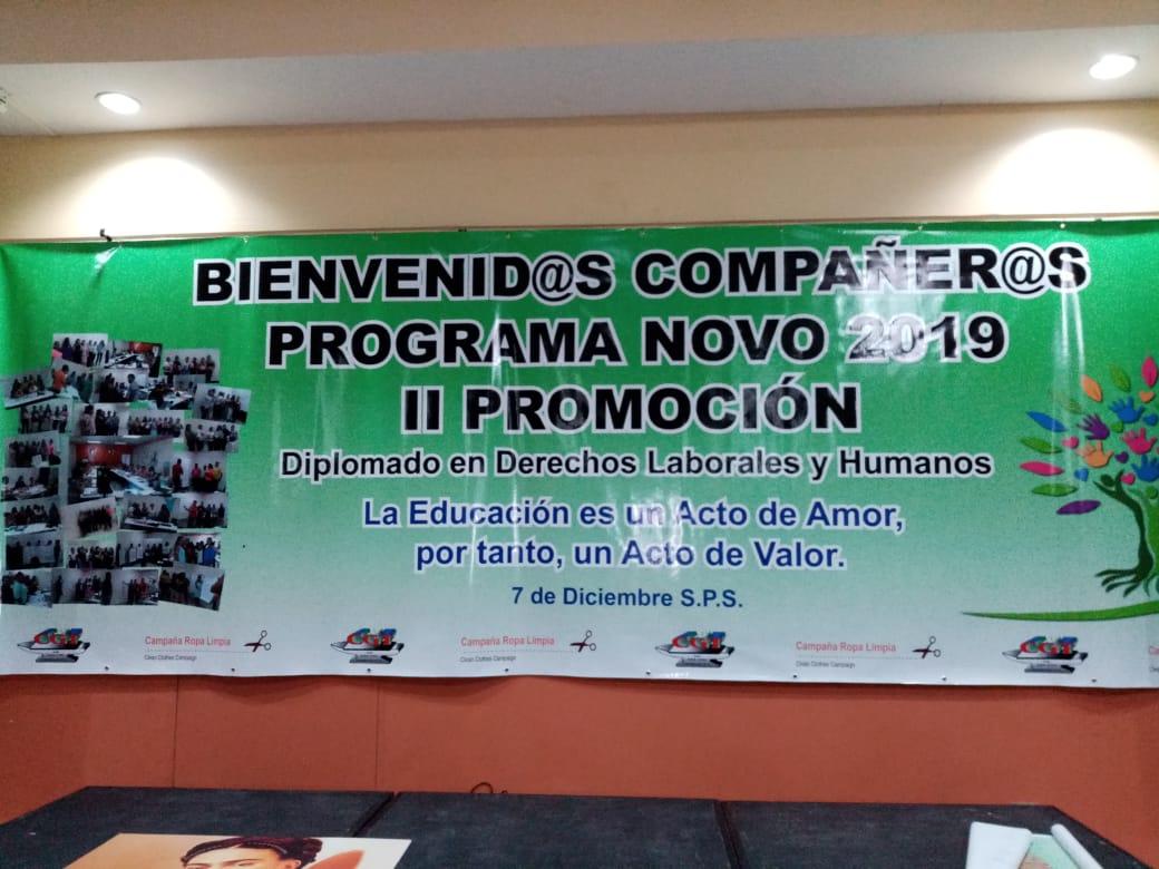 2da. Promoción NOVO 2019 de Promotoras Legales en Derechos Laborales y Humanos