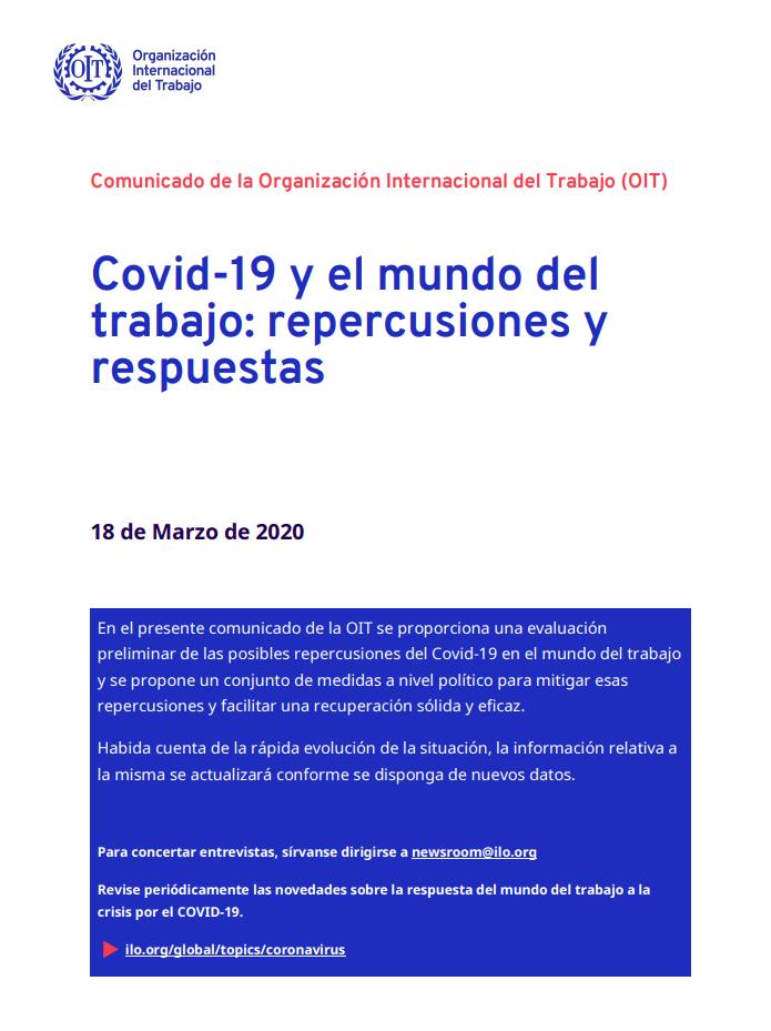Covid-19 y el mundo del trabajo: repercusiones y respuestas